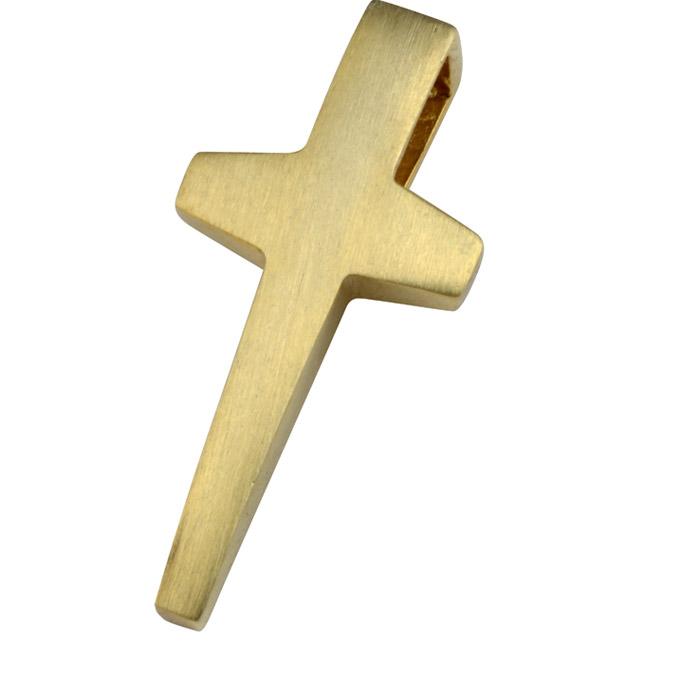 Χειροποίητος βαπτιστικός σταυρός σε κίτρινο χρυσό