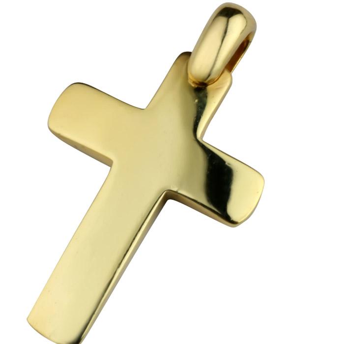 Χρυσός κλασικός σταυρός για αγόρι