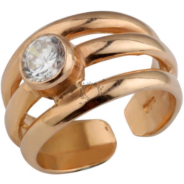 Δαχτυλίδι σεβαλιε μονόπετρο ασημένιο