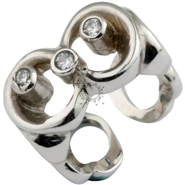 Δαχτυλίδι σεβαλιέ ασημένιο χειροποίητο