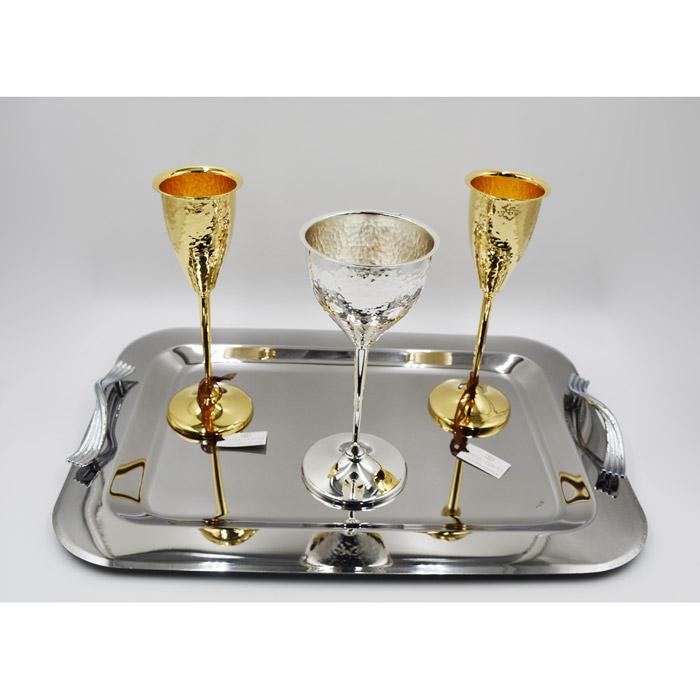 Σετ δίσκος ποτήρι κρασιού σαμπάνιας για γάμο