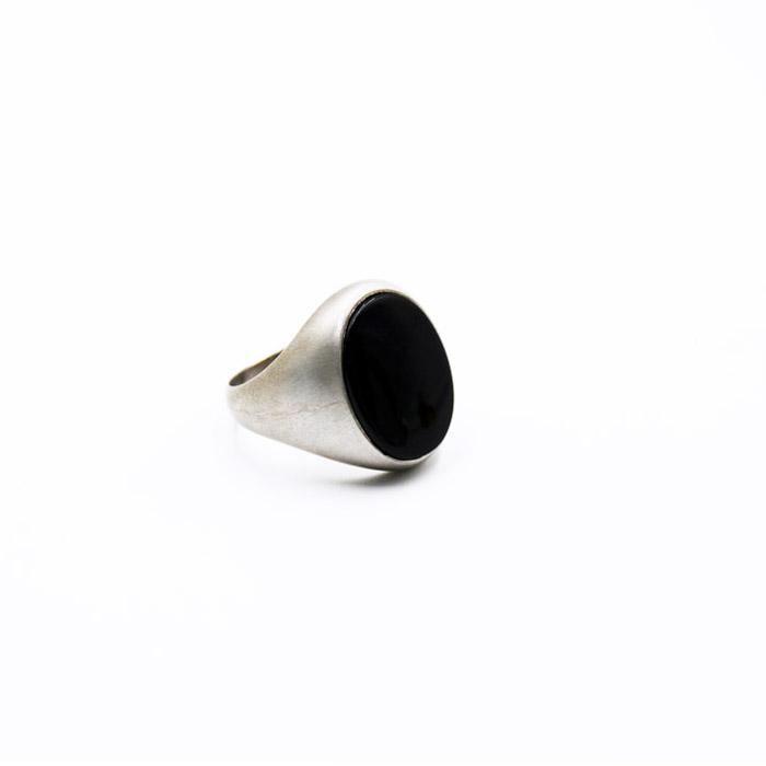 Χειροποίητο ανδρικό δαχτυλίδι με πέτρα