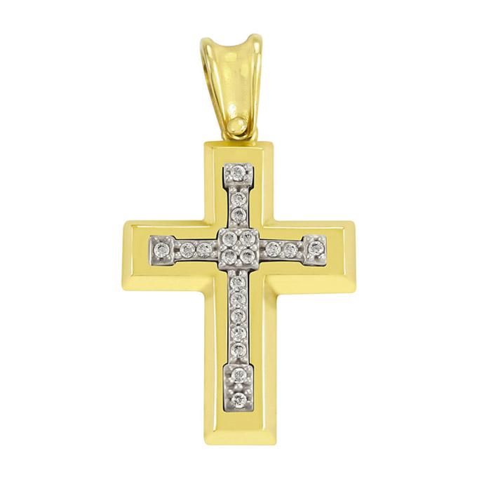 Μοντέρνοι σταυροί βάπτισης με zircon
