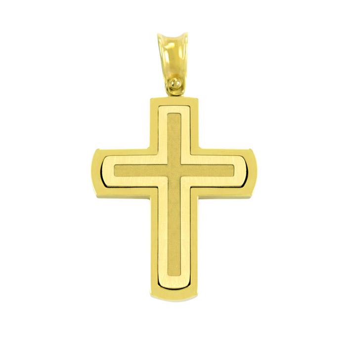 Χρυσός σταυρός βάπτισης για αγόρι