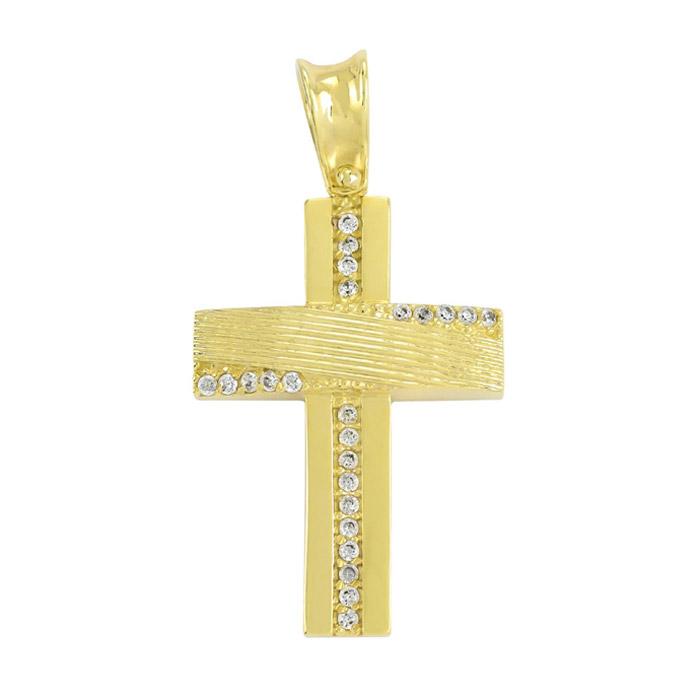 Σταυρός σε κίτρινο χρυσό