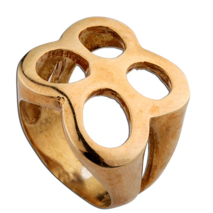 Σεβαλιέ δαχτυλίδι ασημένιο με ρόζ χρυσό.