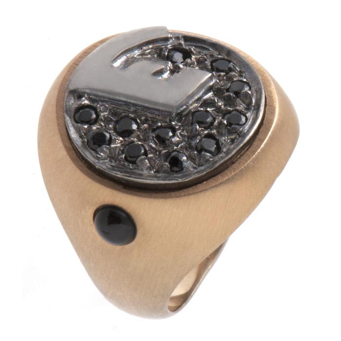 Δαχτυλίδι ασημένιο με μονόγραμμα