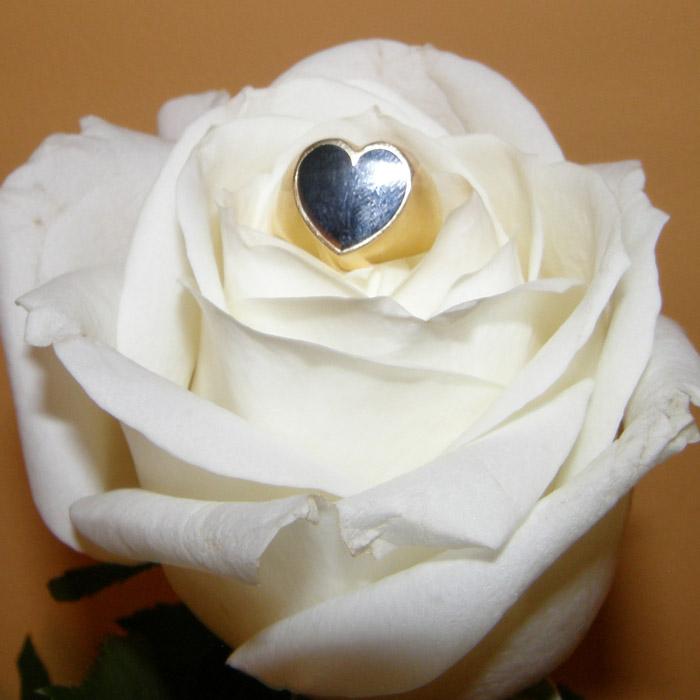 Κάρδια δαχτυλίδι ασημένιο στο χρώμα που θα επιλέξεται.
