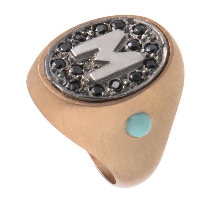 Σεβαλιέ δαχτυλίδι με μονόγραμμα & ζιργκόν Swarovski