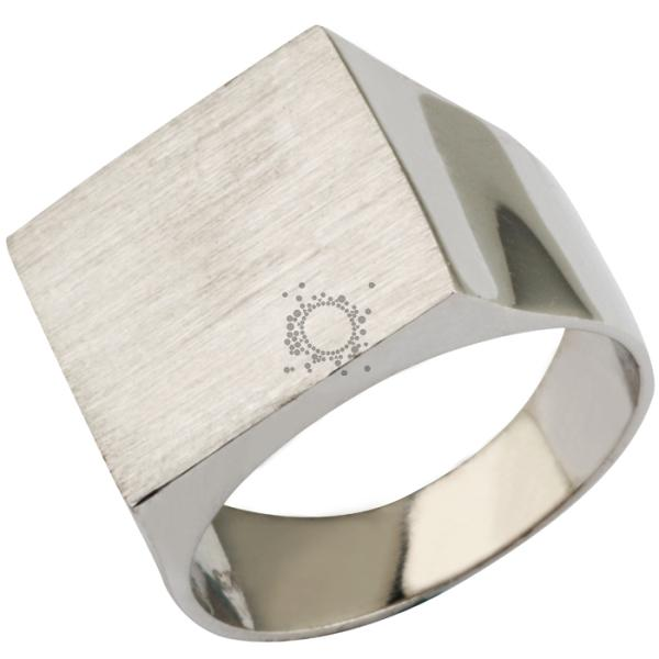 Αντρικό δαχτυλίδι ασημένιο χαραγμένο με το γράμμα που θα επιλέξεται