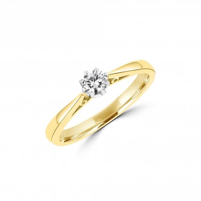 Μονόπετρο δαχτυλίδι με διαμάντι κόσμημα γάμου