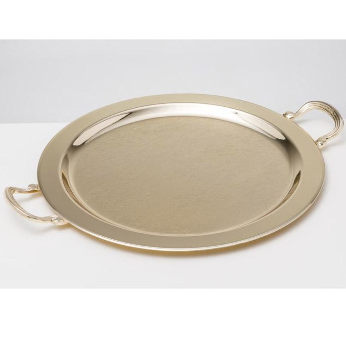 Χρυσός δίσκος στρογγυλός με σχέδιο δαντέλα