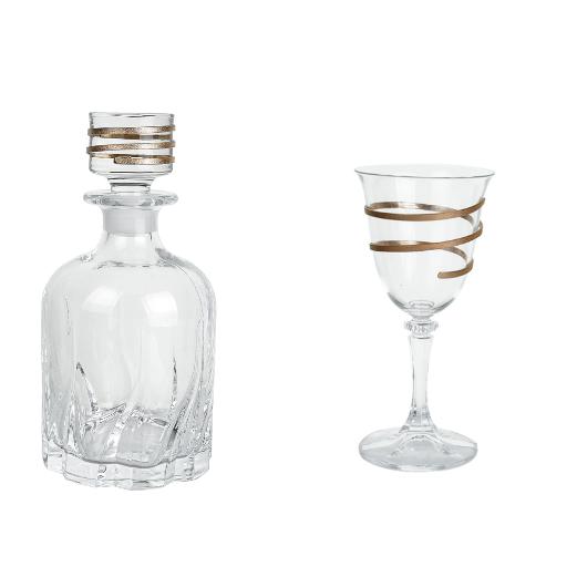 Κρυστάλλινο ποτήρι καράφα γάμου